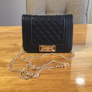 Black Crossbody with Gold Chain